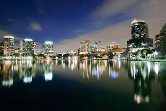 Orlando Skyline at Night by Bill Dickinson Courtesy of Wikimedia